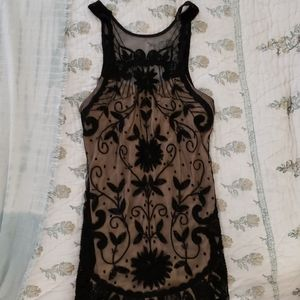Free People Beaded & Embroidered Mesh Dress